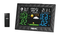 PORT Digital Weather Forecast Alarm Clock - Color LED Displa