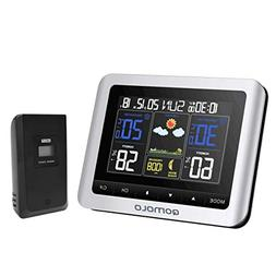 Weather Station, Digital Indoor Outdoor thermometer Hygromet