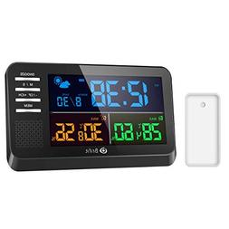 AMIR Weather Station, Large Color Display Clock Calendar wit