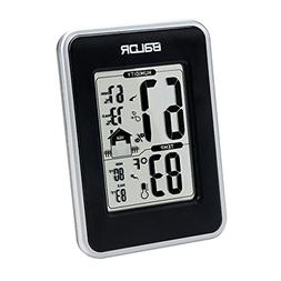 BALDR Thermo-Hygrometer Weather Station, Black