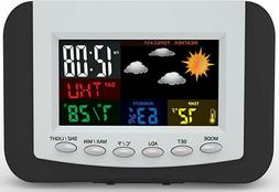 Weather Station Alarm Clock with Large Easy to Read Full Col