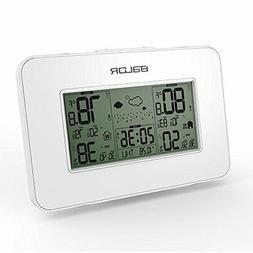 BALDR Weather Station Clock, White