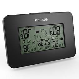 BALDR Weather Station Clock, Black