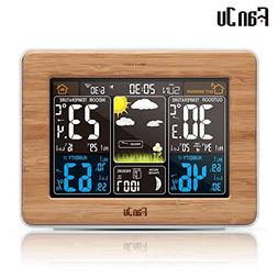 FanJu fj3365 Weather Station Color Digital Clock Temperature