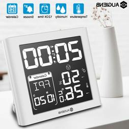 AUGIENB Weather Station + Digital Alarm Clock Calendar Therm