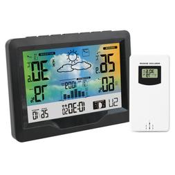 FanJu Weather Station  Digital Alarm Clock Thermometer  Hygr