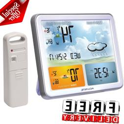 Weather Station Digital Jumbo Display Atomic Clock Indoor Ou