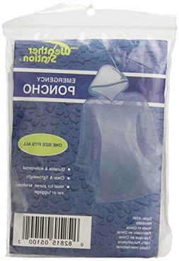 The Weather Station Emergency Rain Poncho With Hood - Reusab