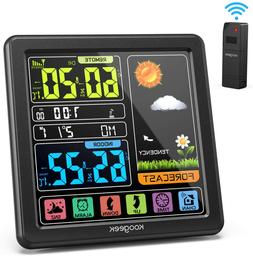 Weather Station Forecast Large Color Display Wireless Remote