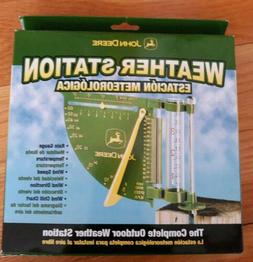 John Deere Weather Station Thermometer Wind Speed Rain Gauge