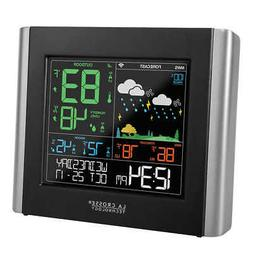 Weather Station W/ Remote Sensor Battery Freestanding LCD Di