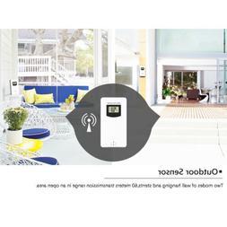 Weather Station Wall Alarm Clock Wireless Digital Touch Hygr
