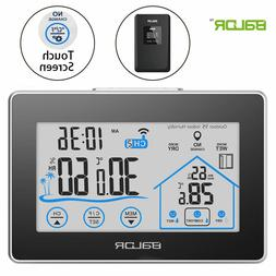 Weather Station Wall Alarm Clock Wireless Digital Touch Hygr