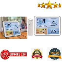 Weather Station with Jumbo Display And Atomic Clock 24 Hour