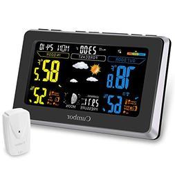 Cumbor Weather Stations with Wireless Indoor Outdoor Sensor,