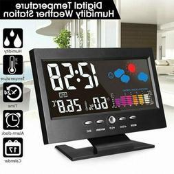 Wireless Digital Clock Weather Station Outdoor Date Alarm Cl