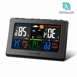 TS-y01 Wireless Color Screen Weather Forecast Clock Temperature Control Clock//H