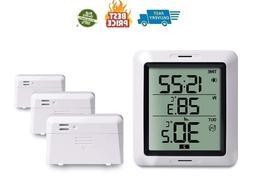 Wireless Indoor Outdoor Thermometer Digital Temperature Moni