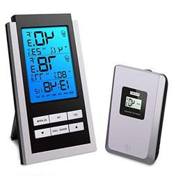 Wireless Indoor Outdoor Thermometer, LCD Digital Thermometer