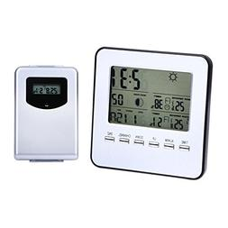 Awakingdemi Digital Wireless Indoor/Outdoor Weather Station&