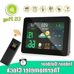 Wireless LCD Color Weather Station Hygrometer Thermometer Cl