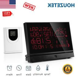 LCD Digital Weather Station In/Outdoor Thermometer Hygromete