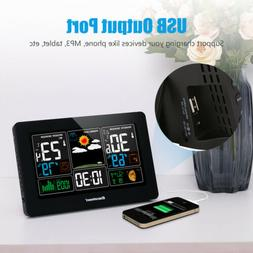 Wireless LCD Weather Station Indoor/Outdoor Forecast Tempera