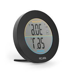 BALDR Wireless Indoor/Outdoor Thermometer, Black