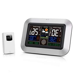 Protmex Wireless Color Weather Station, PT3382 Indoor Outdoo