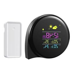 AMIR Digital Wireless Weather Station, Indoor Outdoor Thermo