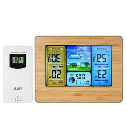 FanJu Wireless Weather Station Alarm Clock Thermometer Hygro