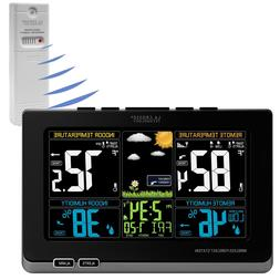 La Crosse Technology Wireless Color Weather Station Black 30