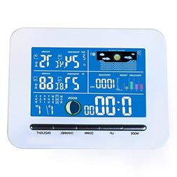 Alloet Wireless Weather Station Clock, Multifunction Color D