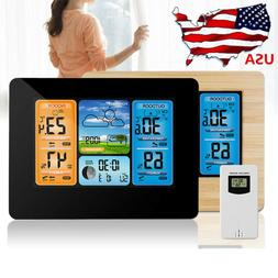 Wireless Weather Station Digital Alarm Clock Temperature Hum