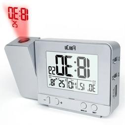 Wireless Weather Station Digital Alarm Clock With Temperatur