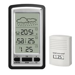 Wireless Weather Station Digital LCD Alarm Clock with Outdoo