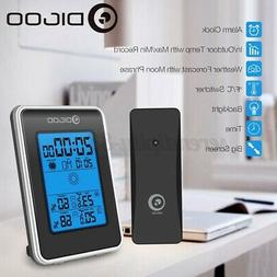 DIGOO Wireless Weather Station LCD Thermometer Barometer Clo
