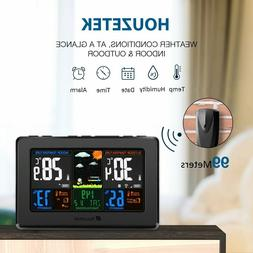 Wireless Weather Station, Houzetek S657 Digital Indoor Outdo