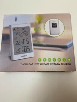 wireless weather station with backlight temperature hygromet