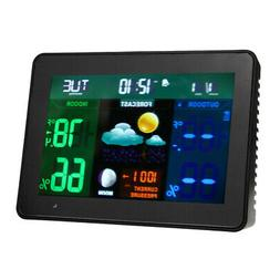 Wireless Weather Station with Color LCD Display Alarm Clock