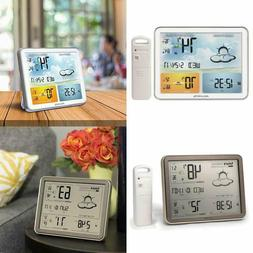 Wireless Weather Station with Large Display Temperature Sens