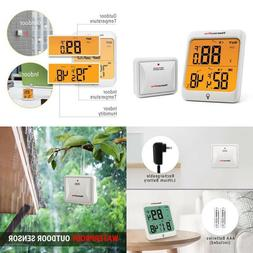 Wireless Thermometer with Humidity Gauge Weather Station Dig