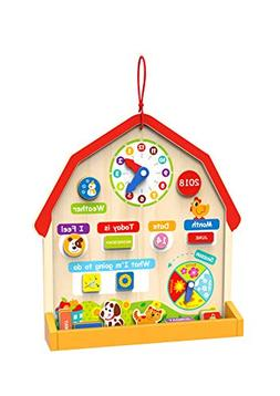 Toysters Wooden Barn Magnetic Daily Calendar for Kids | Fun