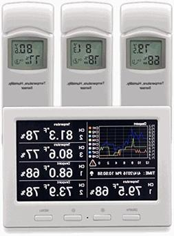 Ambient Weather WS-3000-X3 Thermo-Hygrometer Wireless Monito