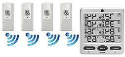 Ambient Weather WS-10-X4 Wireless Indoor/Outdoor 8 Channel T