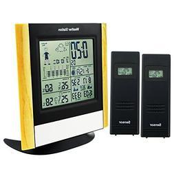 WWVB RCC Wireless Weather Station + 2 Sensor with Air presur