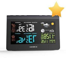 X-Sense Wireless Weather Station With Large Backlit Color Lc